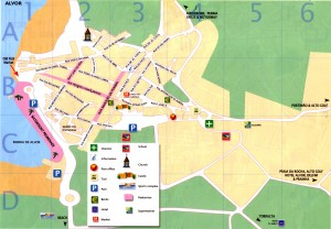 map of Alvor city